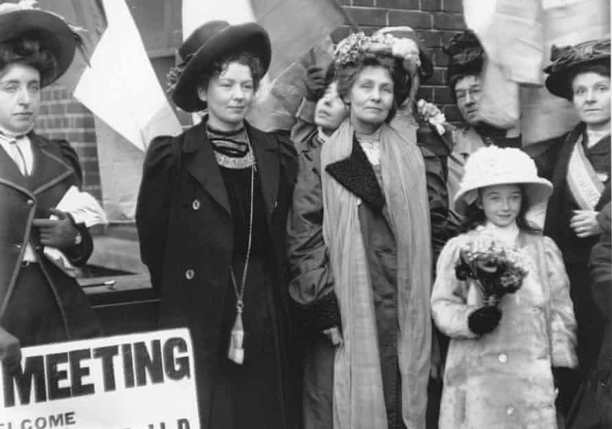 The English suffragettes Emmeline Pankhurst (1858 - 1928) and her daughter Christabel Harriette (1880 - 1958)
