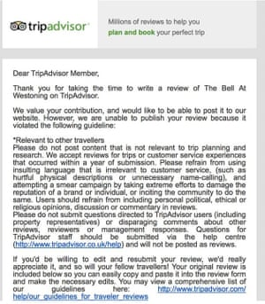 The email Christina Fowler was sent by TripAdvisor.