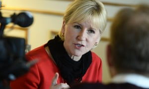 The Swedish foreign minister, Margot Wallstrom, in Stockholm on Wednesday. Saudi Arabia is recalling its ambassador from Stockholm in a growing diplomatic dispute.