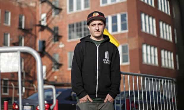 Marc Freeman outside the site at Homan Square.