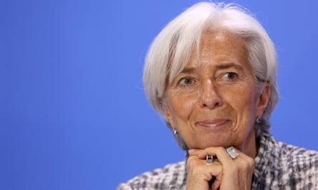The head of the International Monetary Fund, Christine Lagarde
