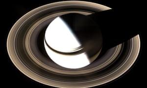 A Nasa image of Saturn and its rings.
