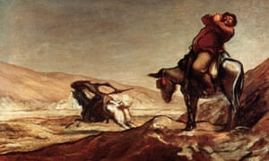 Don Quixote and Sancho Panza by Honore Daumier.