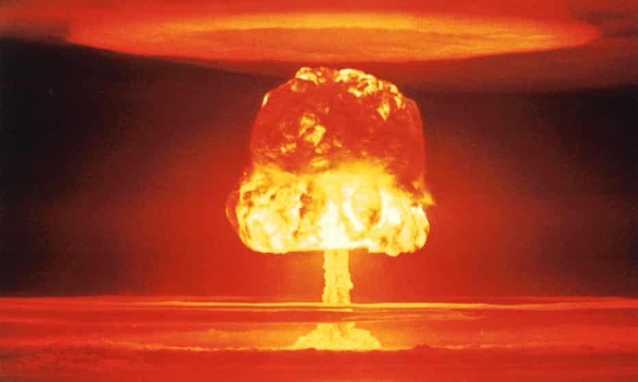Nuclear Explosion over Bikini Atoll, Marshall Islands on March 26, 1954.