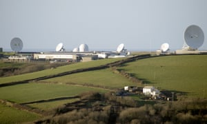 GCHQ's satellite ground station and eavesdropping centre in northern Cornwall
