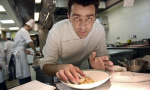 Yannick Alléno posed in his former kitchen at Le Meurice. The three-star Michelin chef is accused of harassment by staff at his new restaurant, Ledoyen in Paris.