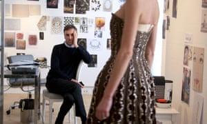 Raf Simons analyses a dress in Dior & I.