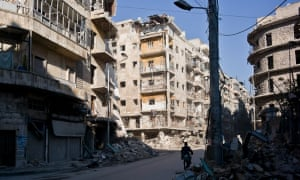 Aleppo, Syria - whole neighbourhoods have been destroyed during the war.