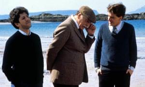Peter Riegert, Burt Lancaster and Peter Capaldi in Local Hero.