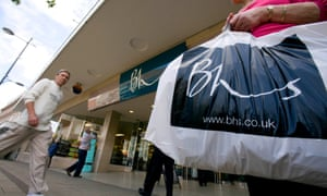Shoppers pass BHS in Norwich