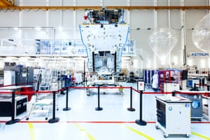 SES-6 in a clean room in Toulouse