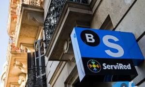A Banco Sabadell bank branch in Barcelona.