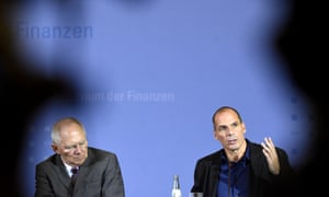 German finance minister Wolfgang Schäuble and Greek finance minister Yanis Varoufakis