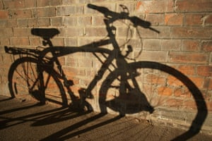 Solar Reprographic Shadow of a Commuter's bike at Bury St Edmunds station