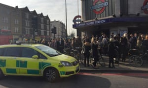 Clapham South tube station after the incident during Thursday morning's rush hour.