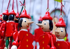 Pinocchio Convention Last year's annual Pinocchio convention was held in the Italian town of Amalfi