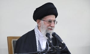 Iran's supreme leader, Ayatollah Ali Khamenei, addresses a meeting of the country's council of experts in Tehran on Thursday.
