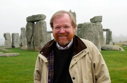 Bill Bryson at Stonehenge in 2003, not long after being appointed English Heritage commissioner.