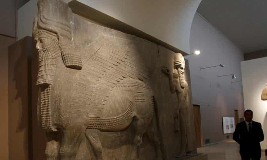 A winged-bull statue from former Assyrian capital Dur-Sharrukin
