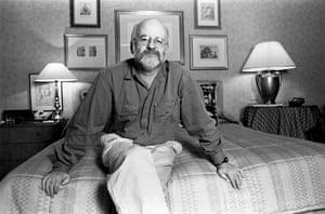 Terry Pratchett photographed in London, 1996.