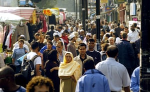 Whitechapel high street, one of the most multicultural areas in London.