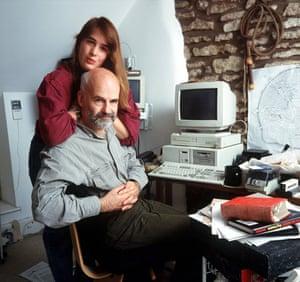 Terry Pratchett and his daughter Rhianna, 1998