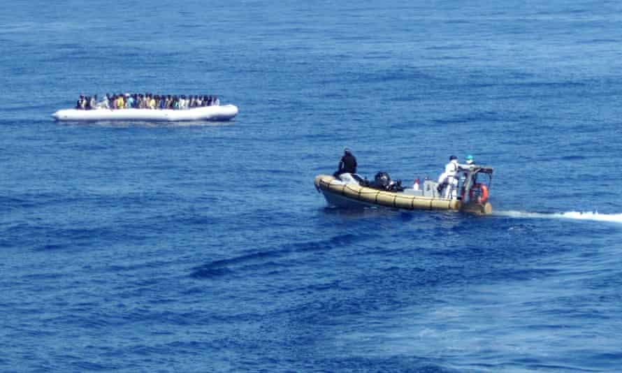 MIgrants rescued by Mare Nostrum patrol