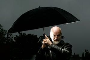 Terry Pratchett at the Edinburgh international Book Festival in 2002.