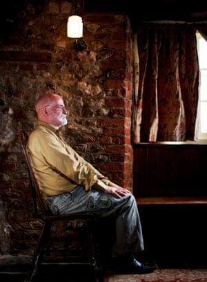 Terry Pratchett at home in 2010
