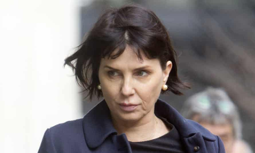 Sadie Frost outside the high court before giving evidence to the phone hacking trial.