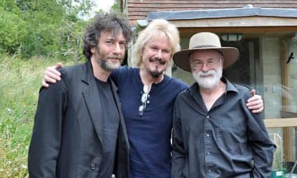 Nail Gaiman, DIrk Maggs and Terry Pratchett