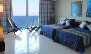 Rooms at the Terral have great sea views
