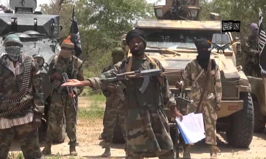 A screengrab from a video released by the Nigerian Islamist extremist group Boko Haram on 13 July 2014.