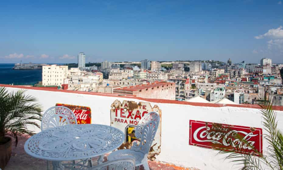 High on Havana … the view from the roof terrace of the Tropicana Penthouse.