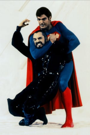 Stamp gets throttled by Christopher Reeve in Superman II (1980).
