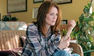 Julianne Moore in Still Alice, co-written and co-directed by Richard Glatzer and Wash Westmoreland. Moore won the best actress prize from all the major awards bodies for her performance.