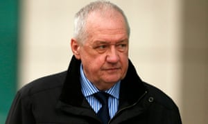 David Duckenfield arrives at the Hillsborough inquest on Thursday.
