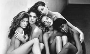 Stephanie, Cindy, Christy, Tatjana, Naomi, Hollywood, 1989.