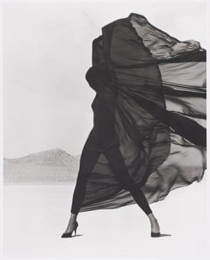 Versace Veiled Dress, El Mirage by Herb Ritts.