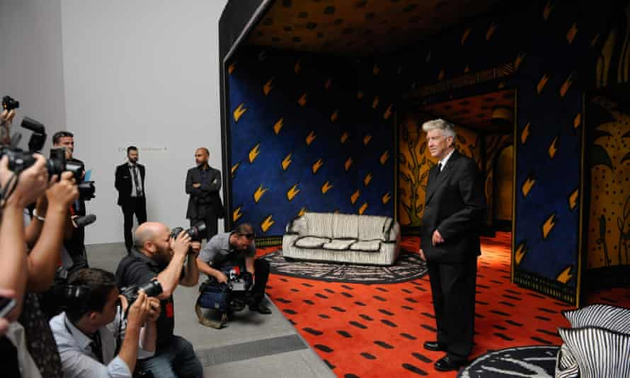David Lynch faces the Brisbane press at Between Two Worlds.