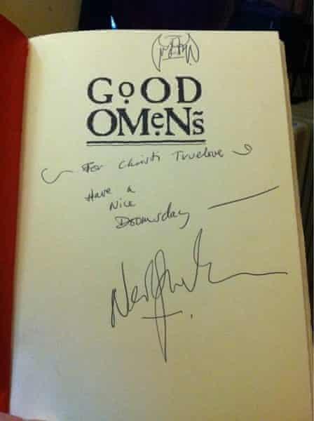Gaiman autograph