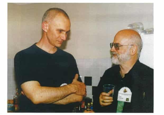 Terry Pratchett with fans