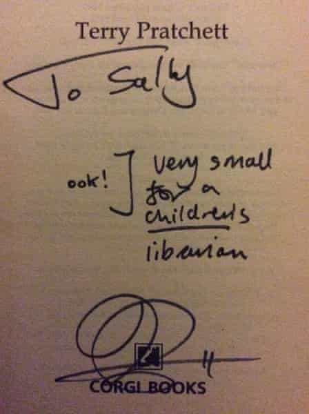 Pratchett autograph