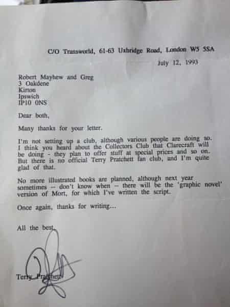 Pratchett letter