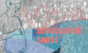 Demographic shifts illustration by Jessica Leach