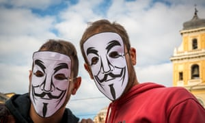 Anti-austerity protestors in Italy