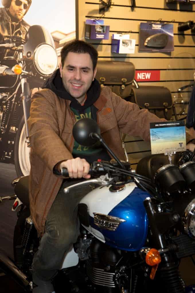 alex epstein on motorbike