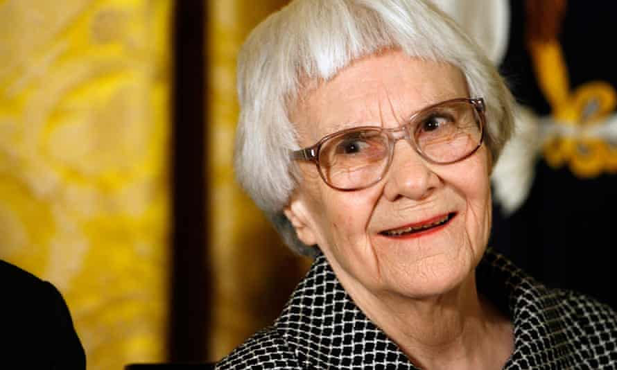 The Pulitzer prize-winning novelist Harper Lee in 2007, when she was awarded the Presidential Medal of Freedom in Washington DC.