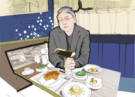 Kazuo Ishiguro at Bob Bob Ricard