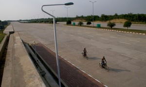 A 14-lane highway in the centre of Naypyidaw, the capital of Burma.